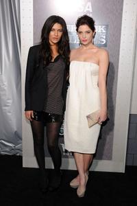 Jessica Szohr and Ashley Greene at the premiere of