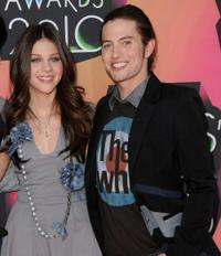 Nicola Peltz and Jackson Rathbone at the Nickelodeon's 23rd Annual Kids Choice Awards.
