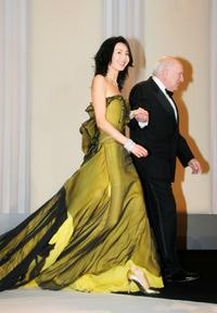 Michel Piccoli and Maggie Cheung at the Opening Ceremony Dinner at the 60th International Cannes Film Festival Opening Night.
