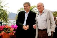 Michel Piccoli and Literature writer Orhan Pamuk at the Films Jury photocall of 60th International Cannes Film Festival.