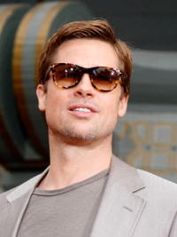 Brad Pitt at the Hand and Footprints Ceremony at Grauman's Chinese Theatre in Hollywood.