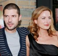 Melvil Poupaud and director Zoe Cassavetes at the premiere of