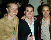 Bill Dawes, Mike Doyle and Chad Lowe at the opening night party of