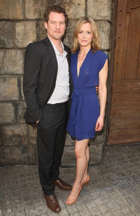 James Tupper and Taylor Schilling at the Meet The Stars Of NBC's New Shows