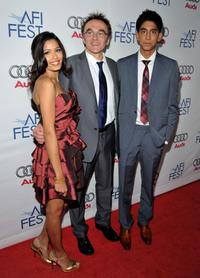 Freida Pinto, Director Danny Boyle and Dev Patel at the 2008 AFI Fest Tribute To Danny Boyle.