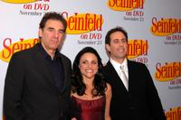 Michael Richards, Julia Louise-Dreyfus and Jerry Seinfeld at the DVD Release Party for the first three seasons of