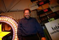 Stephen Root at the charity wheel during the FOX Fall Eco-Casino party.