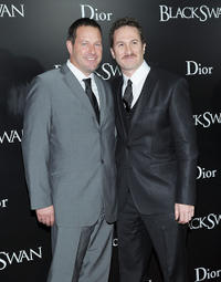Brian Oliver and director Darren Aronofsky at the New York premiere of