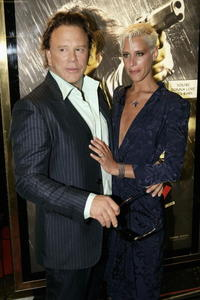 Mickey Rourke and Eve Salvail at the UK premiere of