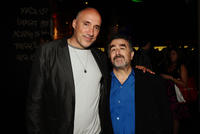 Art designer Neville Page and Saul Rubinek at the Entertainment Weekly's 5th Annual Comic-Con Celebration in California.