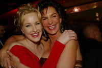 Mercedes Ruehl and Katie Finneran at the after-party for the 56th Annual Tony Awards.