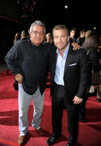 Ron Meyer and Peter Billingsley at the premiere of