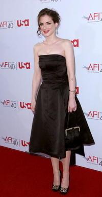 Winona Ryder at the 35th AFI Life Achievement Award tribute to Al Pacino in Hollywood.