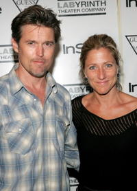 Bill Sage and Edie Falco at the 3rd Annual Benefit for Labyrinth Theater Company.