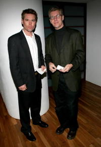 Bill Sage and director Joe Pierson at the opening night of