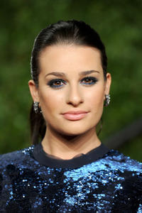 Lea Michele at the Vanity Fair Oscar party hosted by Graydon Carter in California.