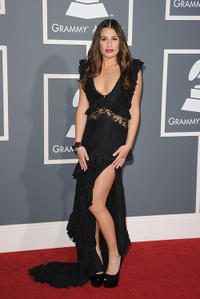 Lea Michele at the 53rd Annual GRAMMY Awards in California.