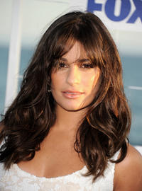 Lea Michele at the FOX All-Star party in California.