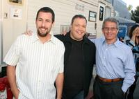 Adam Sandler, Kevin James and Ron Meyer at the premiere of