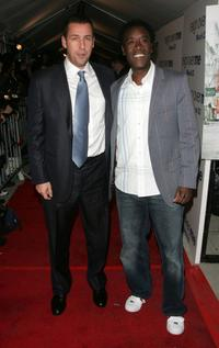 Adam Sandler and Don Cheadle at the premiere of