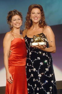 Stefania Sandrelli and her daughter Amanda Sandrelli at the awards ceremony for the Golden Lion Award on the final day of the 62nd Venice Film Festival.