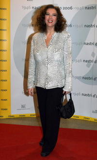 Stefania Sandrelli at the Nastri D'Argento Ceremony (Italian Movie Awards presented by the Association of Film Critics).