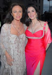 Jacqueline Bisset and Barbara Lazaroff at the City of Beverly Hills gala honoring fashion icon Fred Hayman.