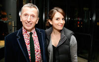 Simon Doonan and Tina Fey at the Barneys New York unveiling of the 2009 Holiday Window Celebrating 35 Years of SNL.