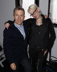 Simon Doonan and Cintra Wilson at the Zero and Maria Cornejo Spring 2011 Fashion show during the Mercedes-Benz Fashion Week.