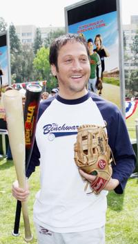 Rob Schneider at the pre-premiere softball game with