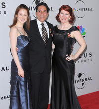 Ellie Kemper, Oscar Nunez and Kate Flannery at the after party of NBC, Universal Pictures And Focus Features Golden Globes.