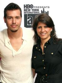 Jon Seda and Elizabeth Gardner at the New York International Latino Film Festival screening of