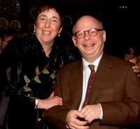 Nancy Piccone and Wallace Shawn at the after party of