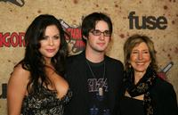 Christa Campbell, Dylan Edrington and Lin Shaye at the fuse Fangoria Chainsaw Awards.
