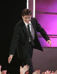 Charlie Sheen at the 33rd Annual Peoples Choice Awards held at the Shrine Auditorium.