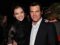 Hailee Steinfeld and Josh Brolin at the screening of