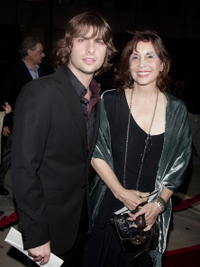 Talia Shire and Robert Schwartzmen at the premiere of