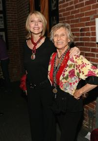 Susan Blakely and Cloris Leachman at the VDAY West LA 2006 cocktail reception.