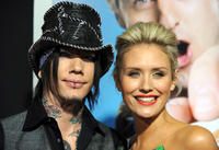 DJ Ashba and Nicky Whelan at the premiere of