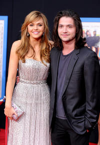 Aimee Teegarden and Thomas McDonell at the California premiere of