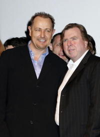 Bruce Payne and Timothy Spall at the launch for the National Youth Theatre's 50th anniversary events.