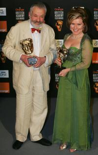 Imelda Staunton and Mike Leigh at the British Academy Film Awards.