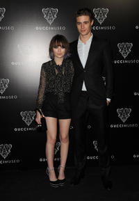 Emily Browning and Max Irons at the Gucci Museum opening in Florence.