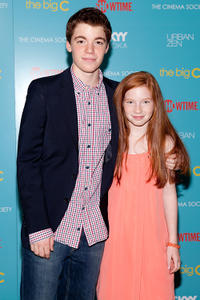 Gabriel Basso and Annalise Basso at the Showtime With The Cinema Society Host A Screening of