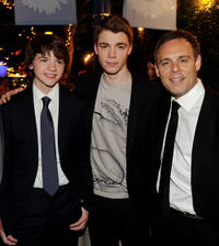 Joel Courtney, Gabriel Basso and producer Bryan Burk at the after party of the California premiere of