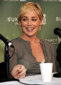 Sharon Stone at the 2008 Sundance Film Festival press conference for