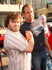 Jack Black and Peter Stormare at the premiere of