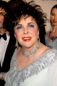 Elizabeth Taylor at the 13th Annual Elton John Aids Foundation Academy Awards Viewing party.