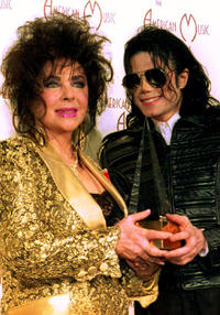 Elizabeth Taylor and Michael Jackson at the American Music Awards California.