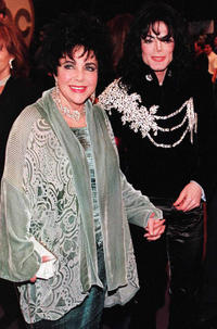 Elizabeth Taylor and Michael Jackson at the